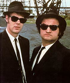 blues brothers wearing skinny ties